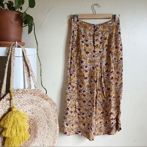 AE wide leg floral pants